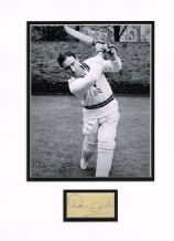Denis Compton Autograph Signed Display